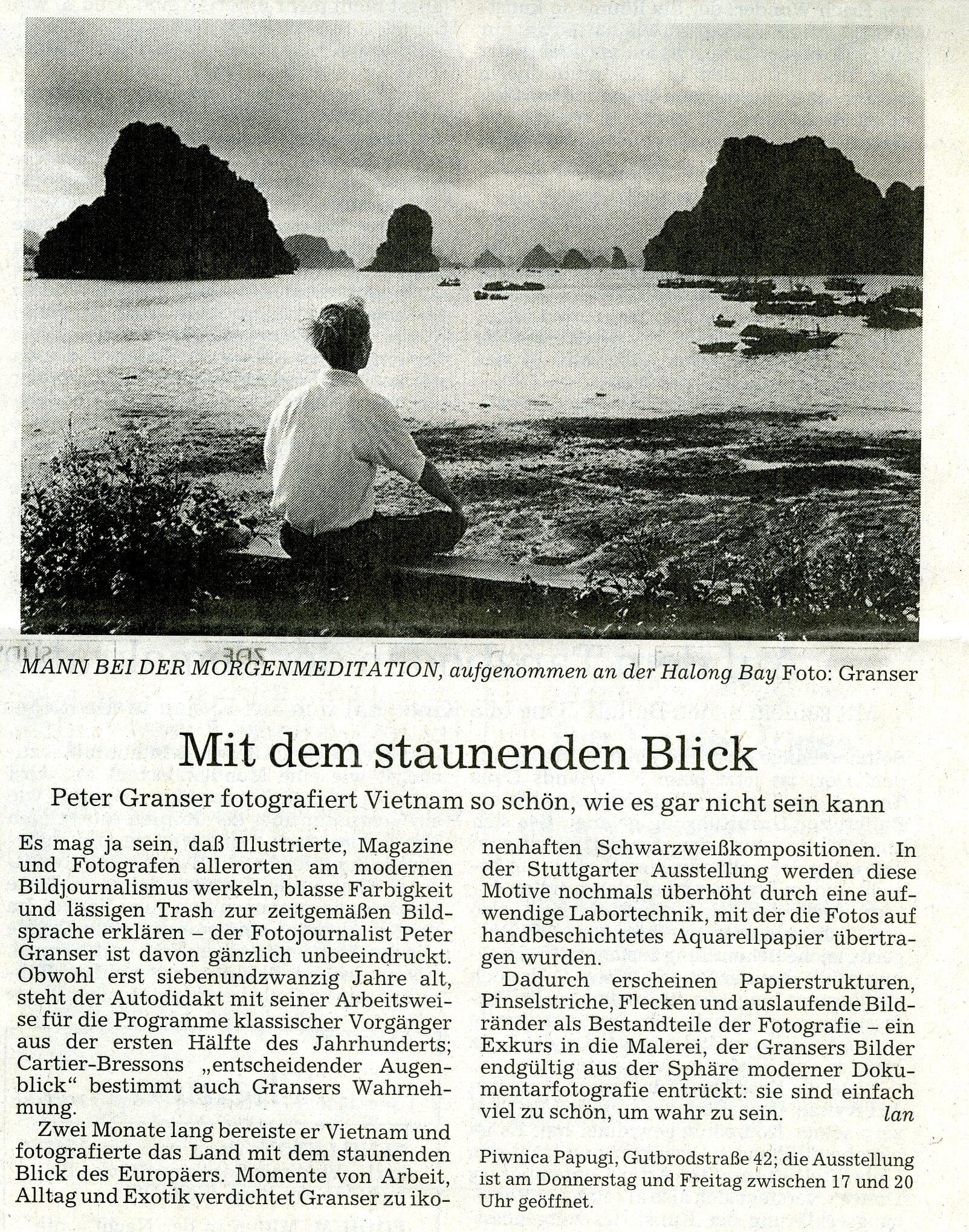 Peter Granser, Stuttgarter Zeitung